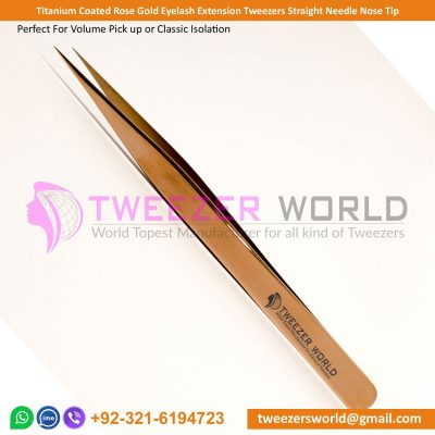 Dotted Handle Eyelash Extension Tweezers Straight Tip