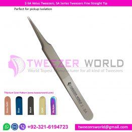 2-SA Vetus Tweezers, SA Series Tweezers Fine Straight Tip