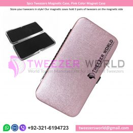 3pcs Tweezers Magnetic Case, Pink Color Magnet Case