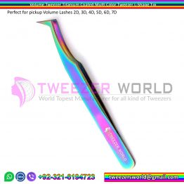 Volume Tweezer Titanium Coated Multi Color Tweezer L-Shape Tip
