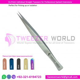 On-Point Individual Straight Tweezers for Professional Eyelash Extensions