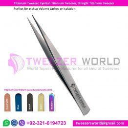 Titanium Tweezer, Eyelash Titanium Tweezer, Straight Titanium Tweezer